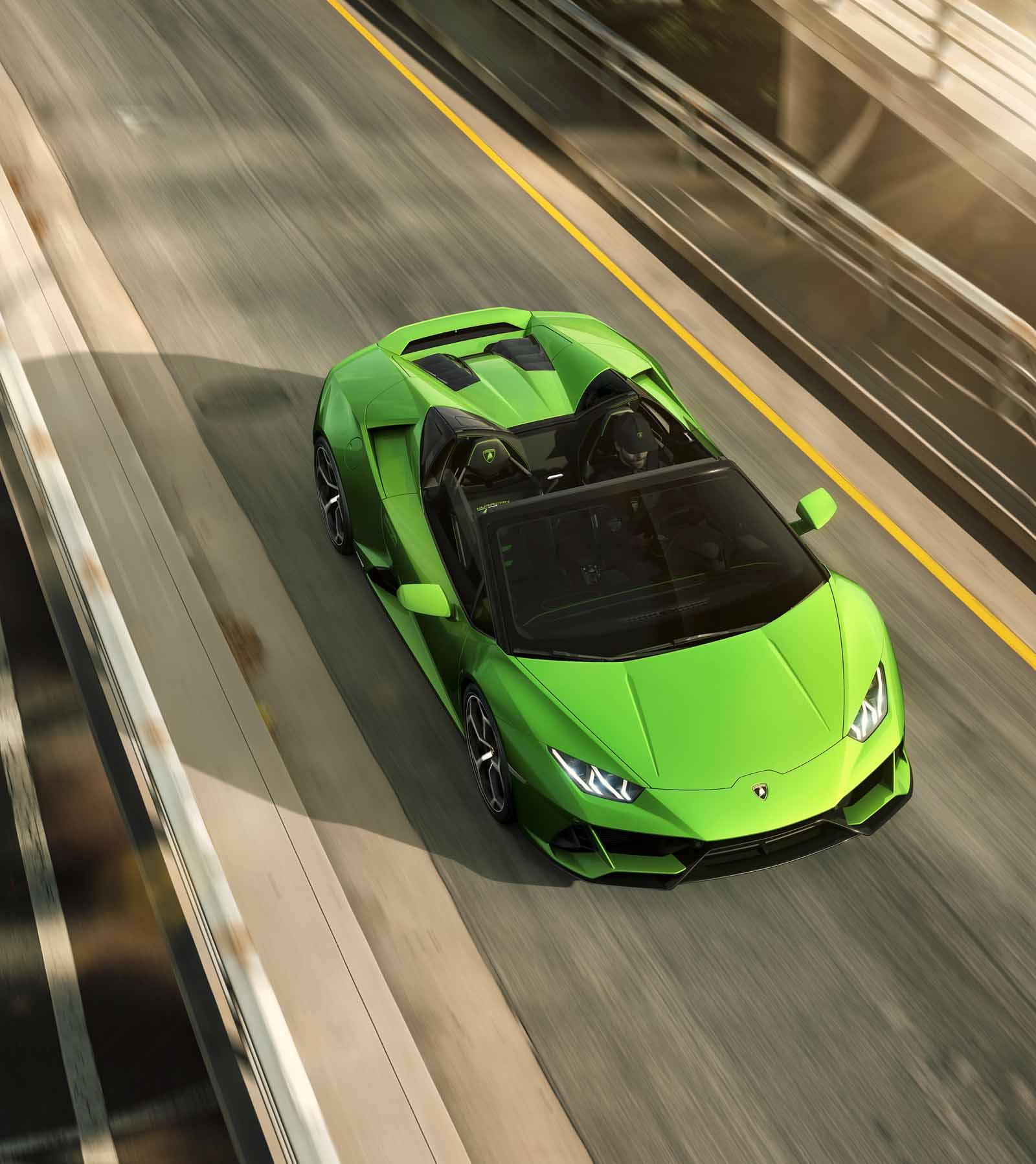 Automobili Lamborghini unveils Huracán EVO Spyder at Geneva Motor